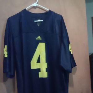 Adidas University of Michigan football jersey